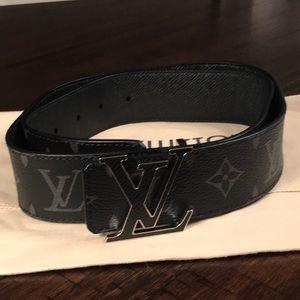 LOUIS VUITTON Mens Monogram Black Belt